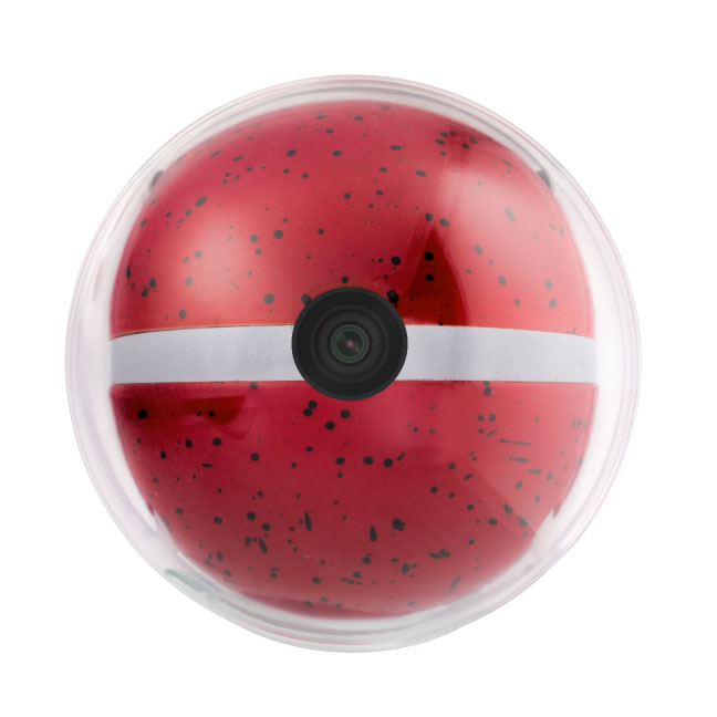 Red Pebby smart dog ball to match home decor